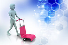 Man with trolley for delivery Royalty Free Stock Photography