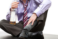 Man in trouble - alcoholism Stock Image