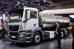 MAN truck TGS 26.400 cistern Royalty Free Stock Images