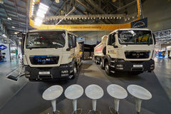MAN trucks at 13th International Specialized Exhibition Stock Images