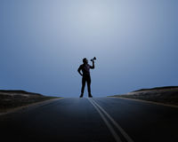 Man with trumpet Royalty Free Stock Photo