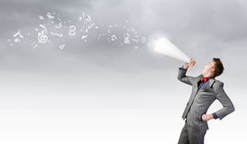 Man with trumpet Stock Image