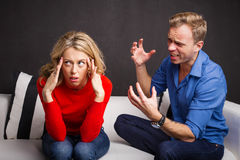 Man trying to explain himself. And ask for forgiveness stock photos