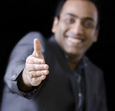A handsome man trying to handshake Stock Photo