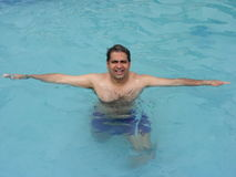 Man trying to swim Royalty Free Stock Images