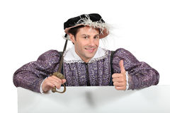 Man in Tudor costume Royalty Free Stock Photos