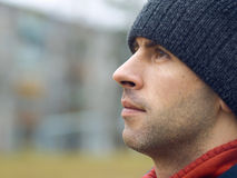 Man In Tuque Stock Images