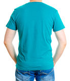 Man in turquoise t-shirt. Royalty Free Stock Photo