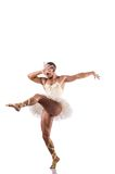 The man in tutu performing ballet dance Stock Photography
