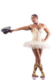 The man in tutu performing ballet dance Stock Photo