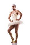 Man in tutu performing ballet dance Stock Image