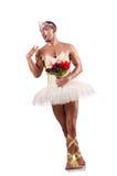 Man in tutu performing ballet dance Royalty Free Stock Image