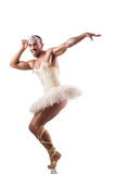Man in tutu performing ballet dance Stock Photography