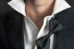 Man In Tux Relaxes Stock Photography