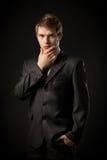 Man in a tuxedo. Very satisfied man in a tuxedo Stock Image