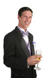Man In Tuxedo With Champagne 1 Stock Photos