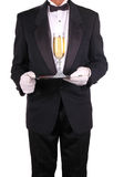 Man in Tuxedo with Champagne Royalty Free Stock Photo