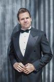 Man in tuxedo Stock Images