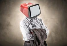 Man with a tv head Stock Photos