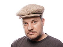 Man with tweed cap Stock Photography