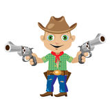 Man with two guns in wild West style. Series character Stock Images