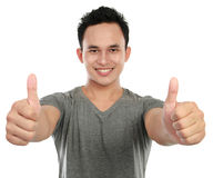 Free Man Two Thumbs Up Royalty Free Stock Image - 23797786