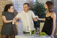 Man between two women Royalty Free Stock Image