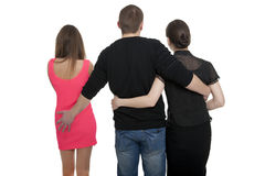 Man with two women Royalty Free Stock Images