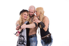 Man and two women Stock Image