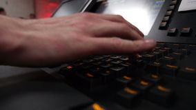 Man is typing on a computer stock footage