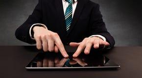 Man typing  in formal clothing Stock Image