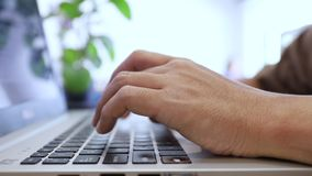 Man typing keyboard