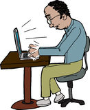 Man Typing on Laptop Royalty Free Stock Images