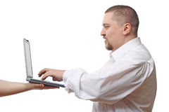 Man typing on notebook Royalty Free Stock Photos
