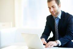 Man typing Royalty Free Stock Image