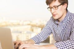 Man typing side Royalty Free Stock Photos