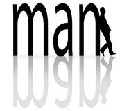 Man typography vector illustration  Stock Photography