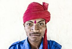 Man in Udaipur stock image