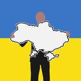 Man with Ukraine sign Stock Photos