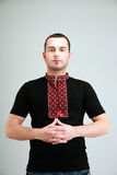 Man in the Ukrainian national clothes Stock Photography