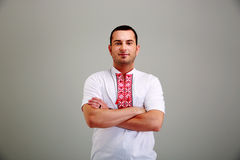 Man in the Ukrainian national clothes Stock Photo