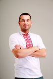 Man in the Ukrainian national clothes Royalty Free Stock Image
