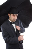 Man  and an umbrella Royalty Free Stock Photos