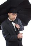 Man  and an umbrella Royalty Free Stock Photos