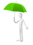 Man with umbrella. Royalty Free Stock Photography