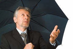 Man with the umbrella Royalty Free Stock Photo
