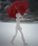 Man With Umbrella Royalty Free Stock Image