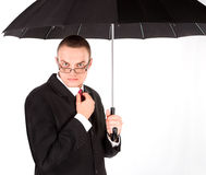 Man with umbrella Stock Image