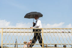 Man with umbrella Royalty Free Stock Photo