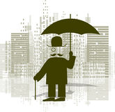 Man with an umbrella Stock Photography